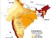 Inde, Carte des précipitations